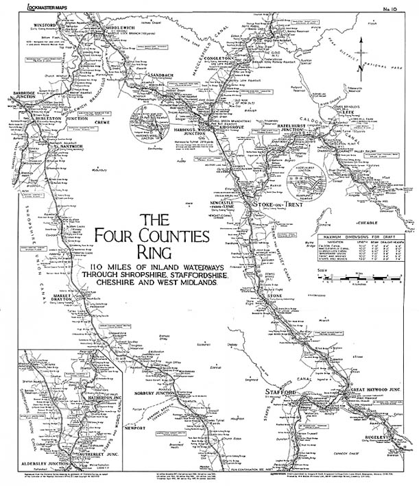 Lockmaster Map No #10 The Four Counties Ring