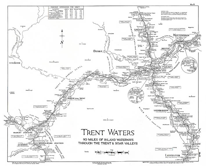 Lockmaster Map No #11 Trent Waters