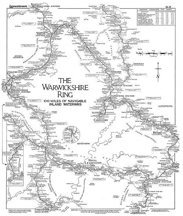 Lockmaster Map No #13 The Warwickshire Ring