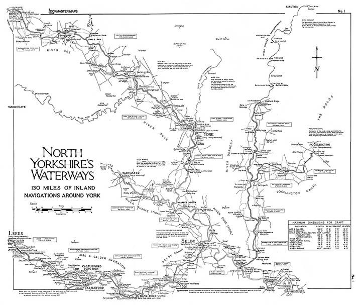 Lockmaster Map No #1 North Yorkshire's Waterways