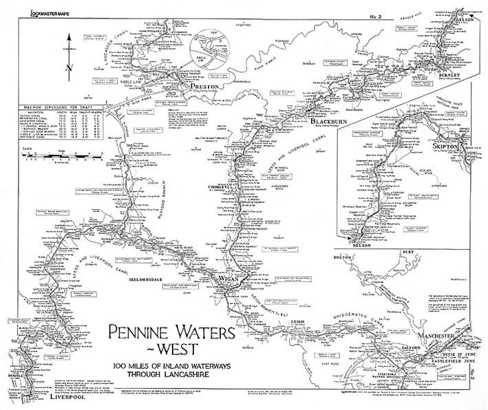Lockmaster Map No #2 Pennine Waters West