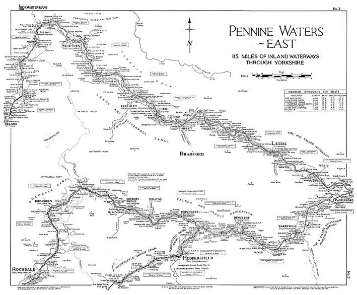 Lockmaster Map No #3 Pennine Waters East