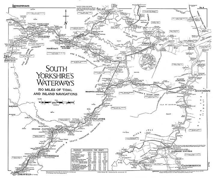 Lockmaster Map No #4 South Yorkshire's Waterways