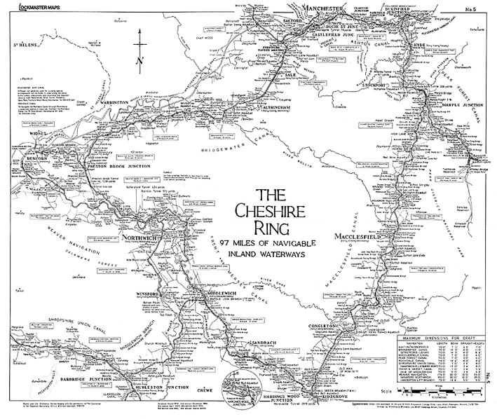 Lockmaster Map No #5 The Cheshire Ring