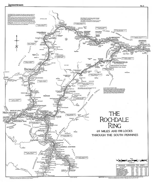 Lockmaster Map No #6 The Rochdale Ring