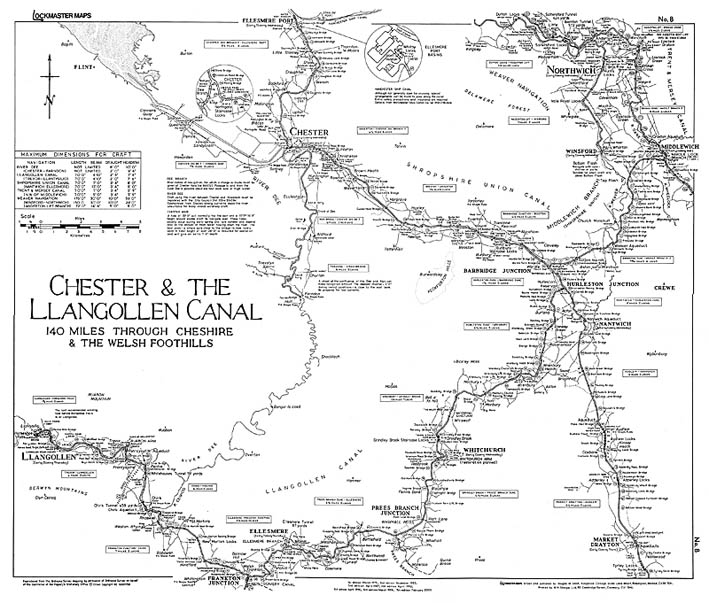 Lockmaster Map No #8 Chester & The Llangollen Canal