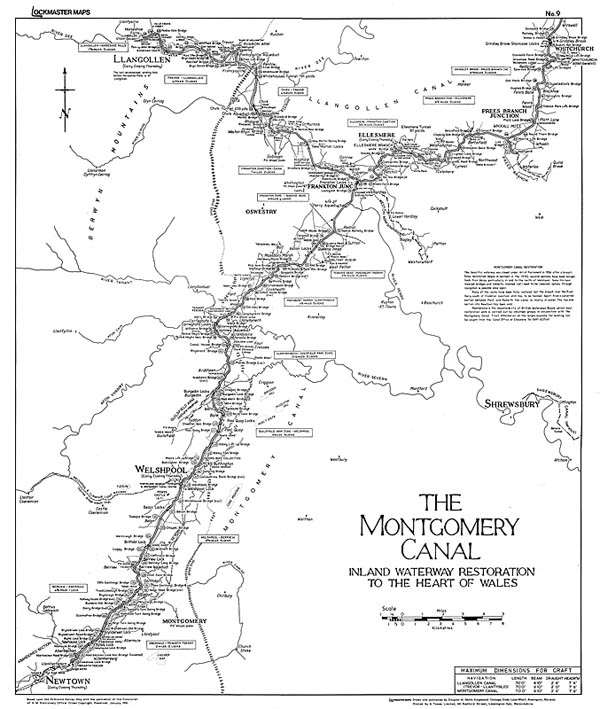 Lockmaster Map No #9 The Montgomery Canal